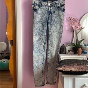 Acid wash jeans for girls